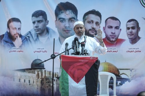 Deputy head of Hamas's regional politburo, Khalil Al-Hayya in Gaza City, Gaza on 17 September 2021 [Ali Jadallah/Anadolu Agency]
