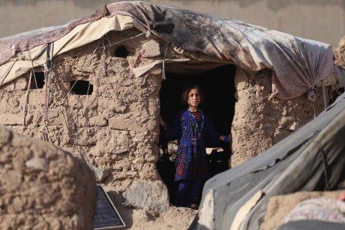 A displaced child at refugee camp in Herat, Afghanistan on 16 September 2021 [Stringer/Anadolu Agency]