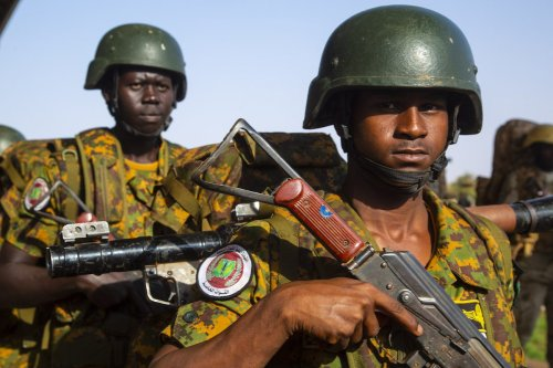 The military graduation ceremony of special forces, held in Khartoum, Sudan on 22 September 2021. [Mahmoud Hjaj - Anadolu Agency]