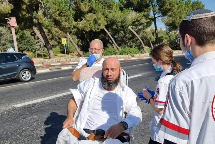 Palestinian driver Samir Mujahid survived a murder attempt after an Israeli man tried to strangle him with his seatbelt in Jerusalem on 20 September 2021
