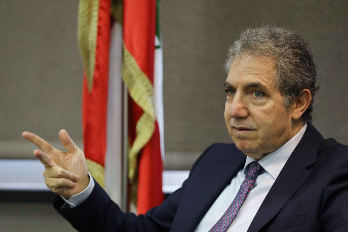 Lebanons Finance Minister Ghazi Wazni speaks to Agence France-Presse (AFP) at his office at the ministry in the Lebanese capital Beirut on May 15, 2020 [ANWAR AMRO/AFP via Getty Images]