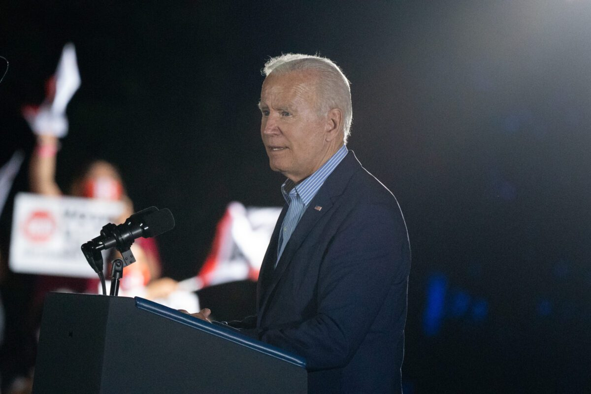 US President Joe Biden on September 13, 2021 [Bing Guan/Bloomberg via Getty Images]