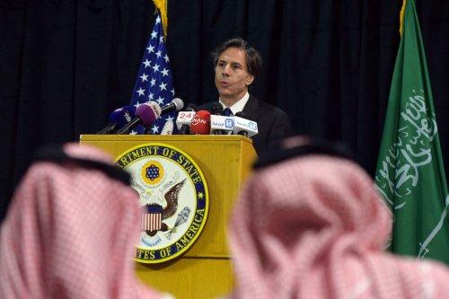 US Deputy Secretary of State Antony Blinken speaks during a press conference in the Saudi capital Riyadh on 7 April 2015. [AHMED FARWAN/AFP via Getty Images]