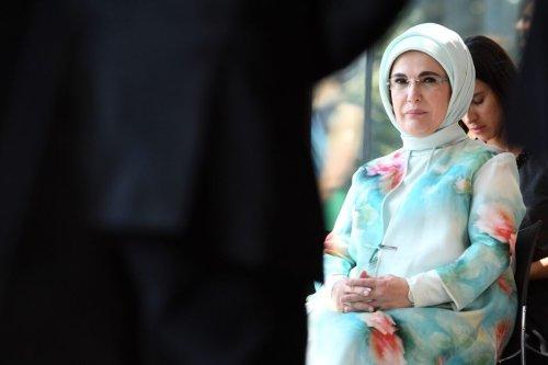 Turkish President's wife Emine Erdogan on July 12, 2018 [RICCARDO PAREGGIANI/AFP via Getty Images]