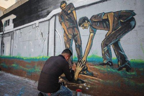 Thumbnail - Gaza dedicates mural to Gilboa Prison escapees