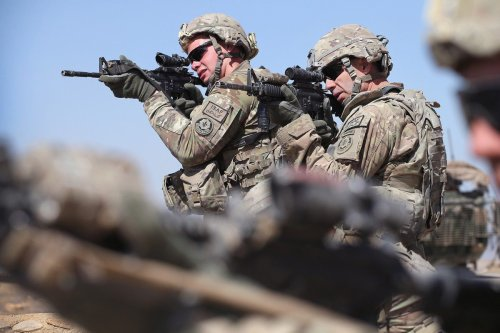 US soldiers in Kandahar, Afghanistan, 1 March 2015 [Scott Olson/Getty Images]