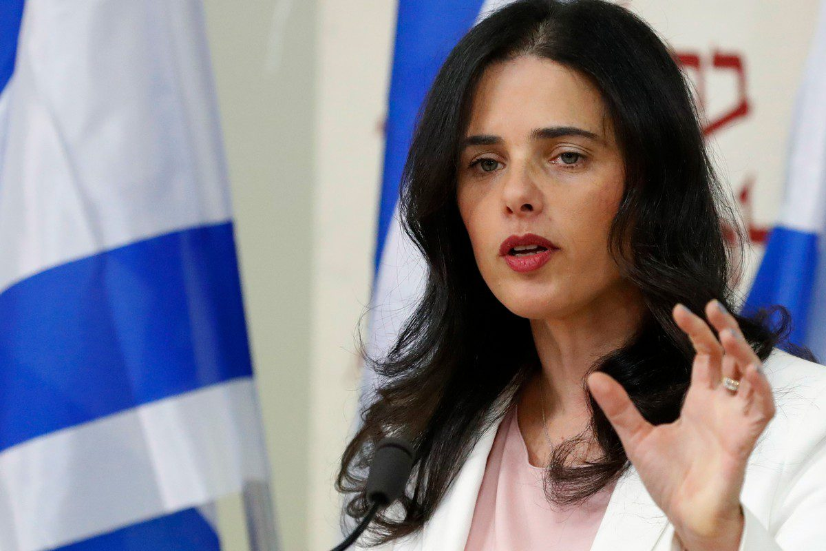 Israel's Interior Minister Ayelet Shaked in Tel Aviv on 29 December 2018 [ACK GUEZ/AFP/Getty Images]