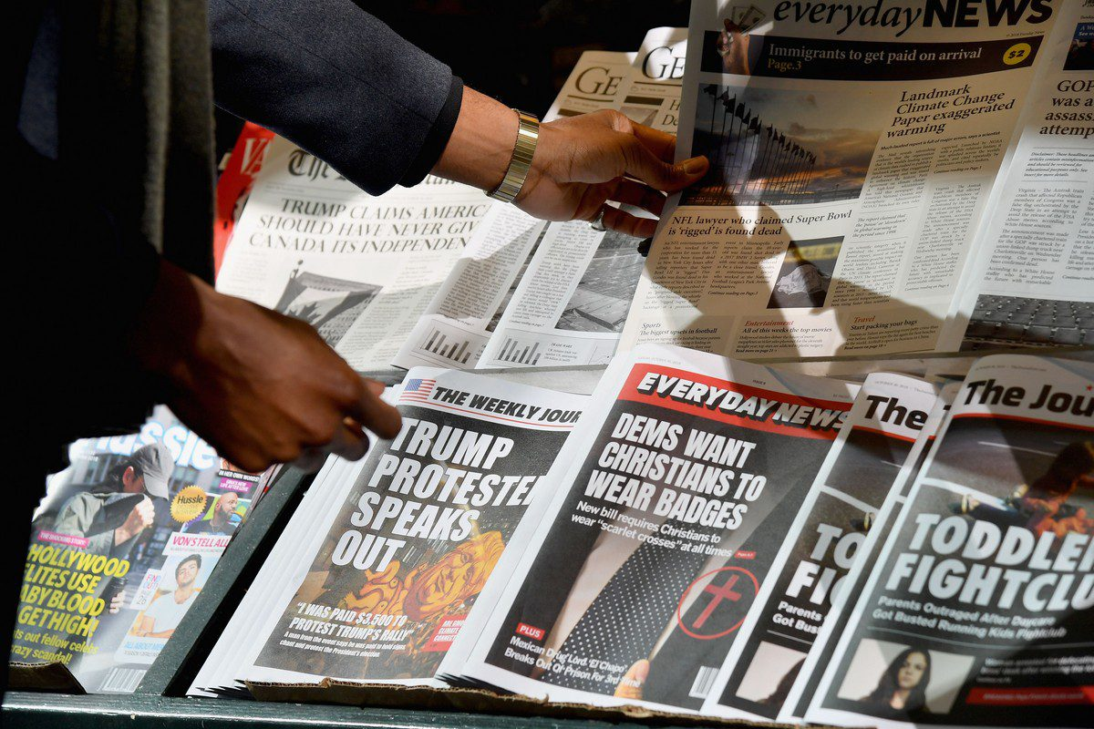 A news stand is seen in New York, US on 30 October 2018 [ANGELA WEISS/AFP/Getty Images]