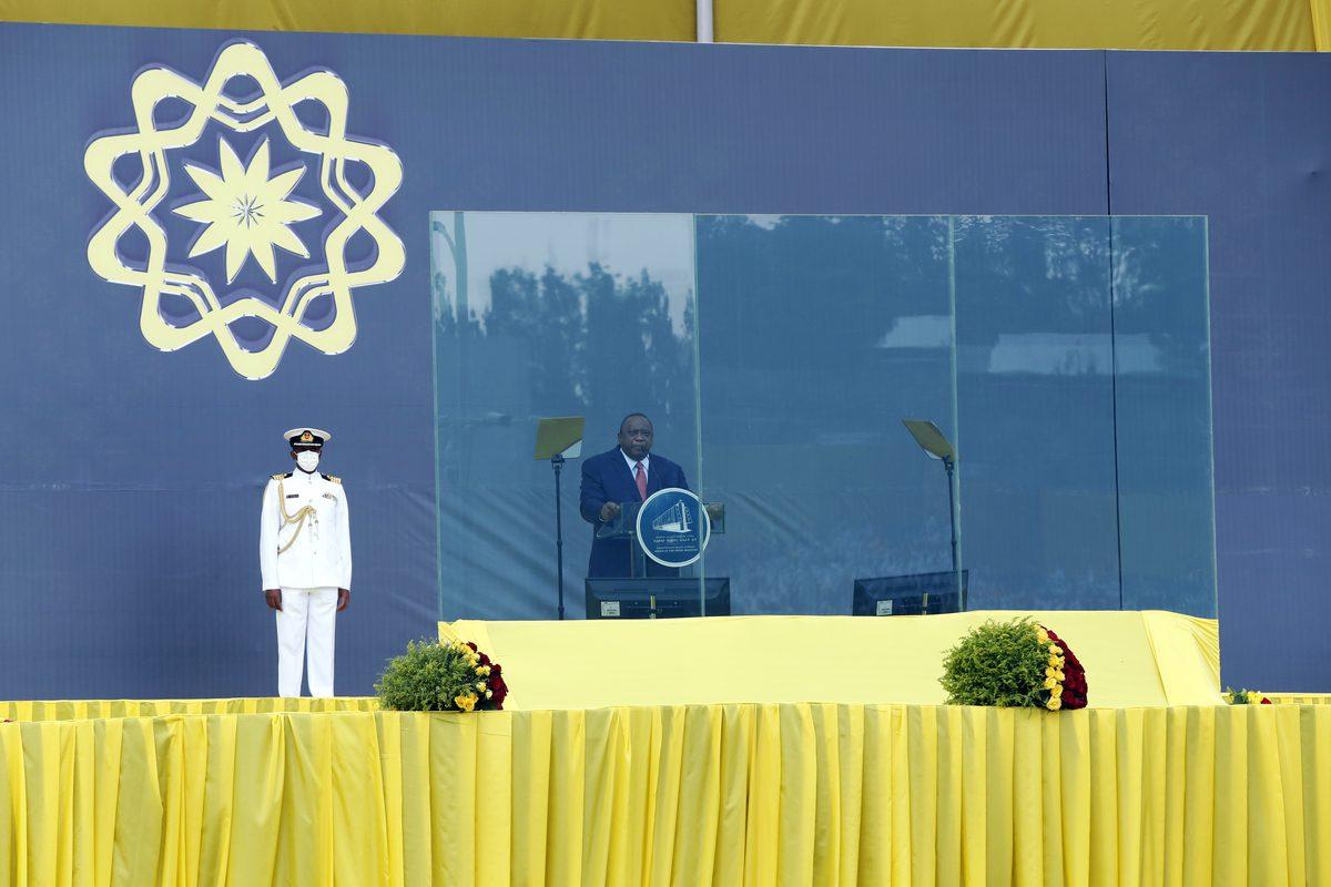 President of Kenya, Uhuru Kenyatta [Minasse Wondimu Hailu/Anadolu Agency]