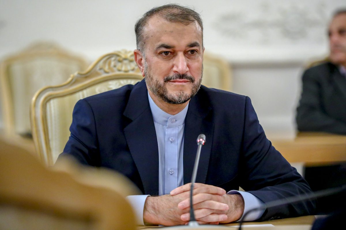 Iranian Foreign Minister Hossein Amir-Abdollahian in Moscow, Russia on 6 October 2021 [Foreign Ministry Press Service/Anadolu Agency]