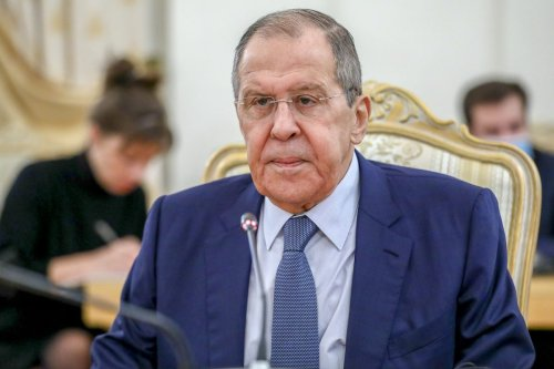 Russian Foreign Minister Sergey Lavrov in Moscow, Russia on October 6, 2021 [Foreign Ministry Press Service/Anadolu Agency]
