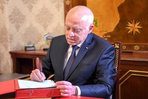 President of Tunisia Kais Saied in Tunis, Tunisia on 11 October 2021 [Tunisian Presidency/Anadolu Agency]