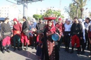 Gazans get together to mark Palestine Heritage Day, 8 October 2021 [Mohammed Asad/Middle East Monitor]