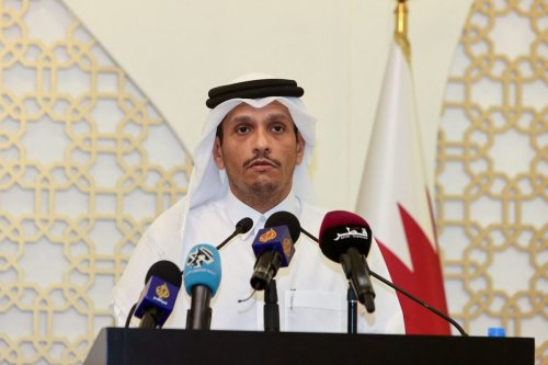Qatari Foreign Minister Sheikh Mohammed bin Abdulrahman Al-Thani in Doha, on September 30, 2021 [KARIM JAAFAR/AFP via Getty Images]