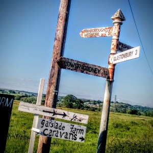 Signpost. Godney in Somerset