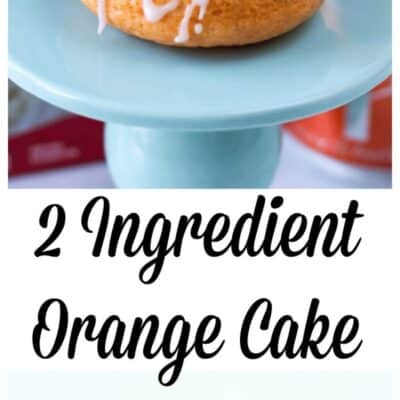 This easy 2 ingredient orange cake is the easiest cake to make. WIth just soda and cake you have a moist and delicious cake!