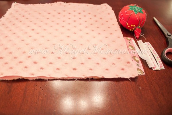 making a baby blanket
