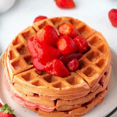 Strawberry Waffles