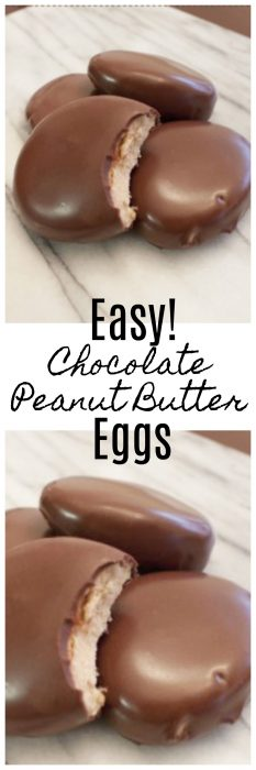 How To Make Easy Chocolate Peanut Butter Eggs Copycat Recipe