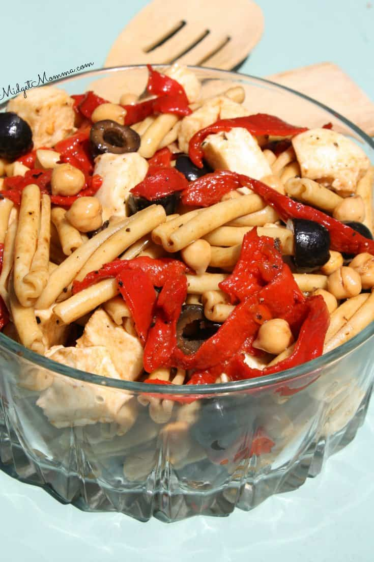 Balsamic Roasted Red Pepper Pasta Salad