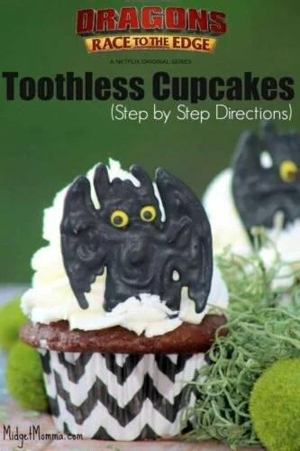 Toothless Cupcake Tutorial