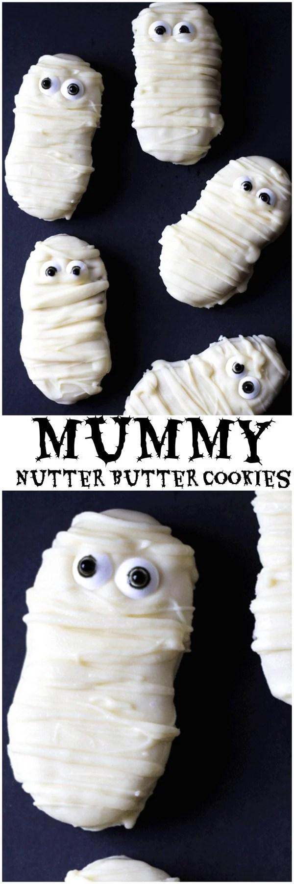 Mummy Nutter Butter Cookies Halloween Treat