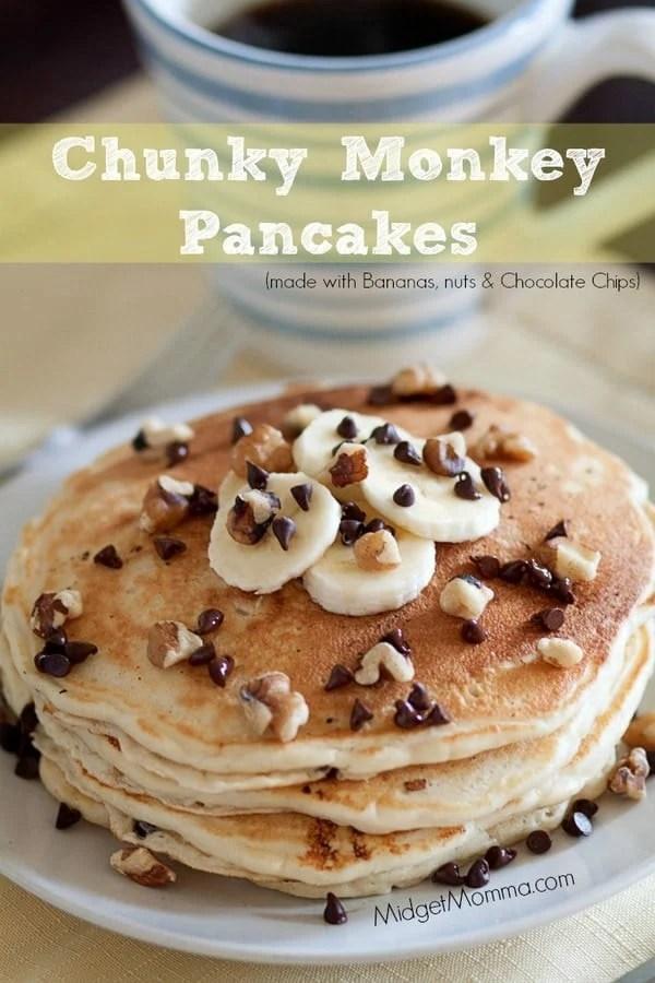 Chunky Monkey Pancakes Midgetmomma