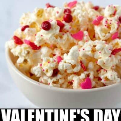 White Chocolate Popcorn Valentine's Day popcorn
