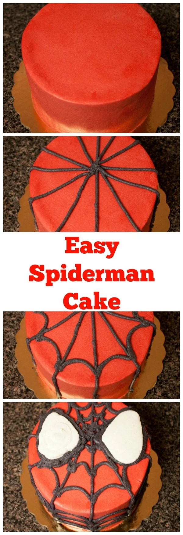 Diy Spiderman Cake With Homemade Cake And Frosting