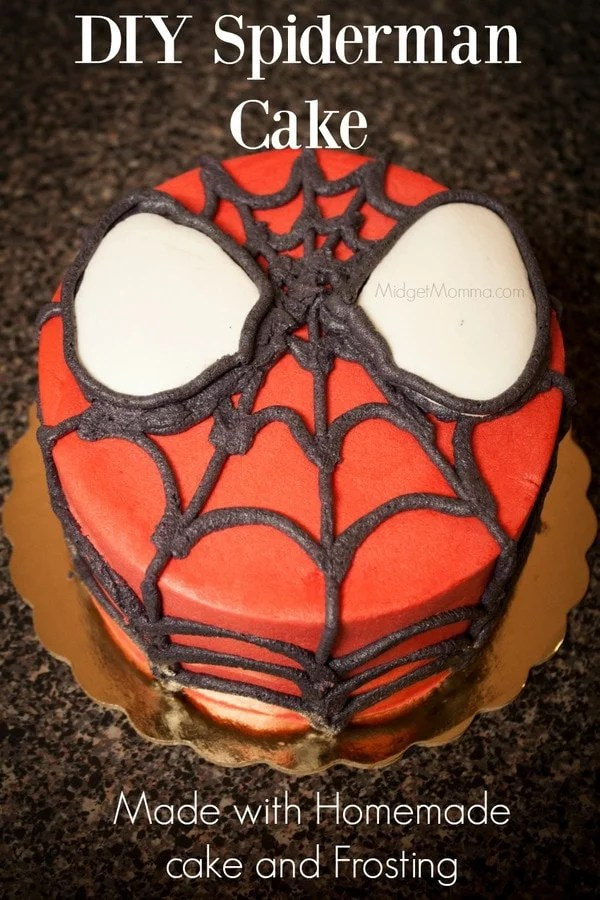 DIY Spiderman Cake (with Homemade cake and Frosting