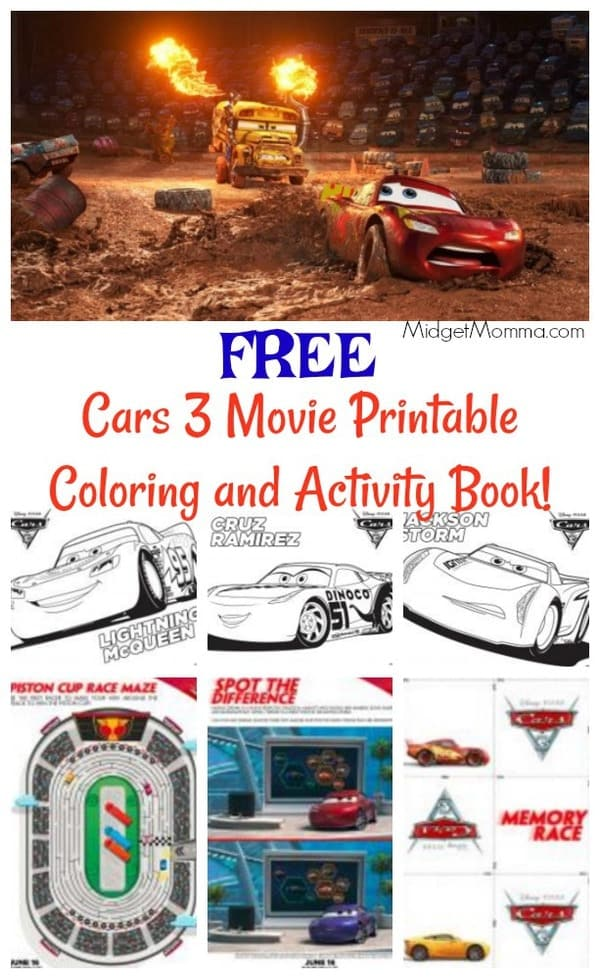 Free cars 3 movie printable coloring pages and activity, coloring pages