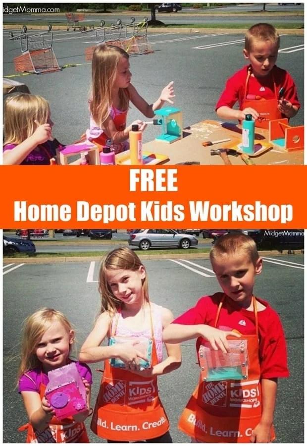 Free Home Depot Kids Workshops July 1st Build A Bug House