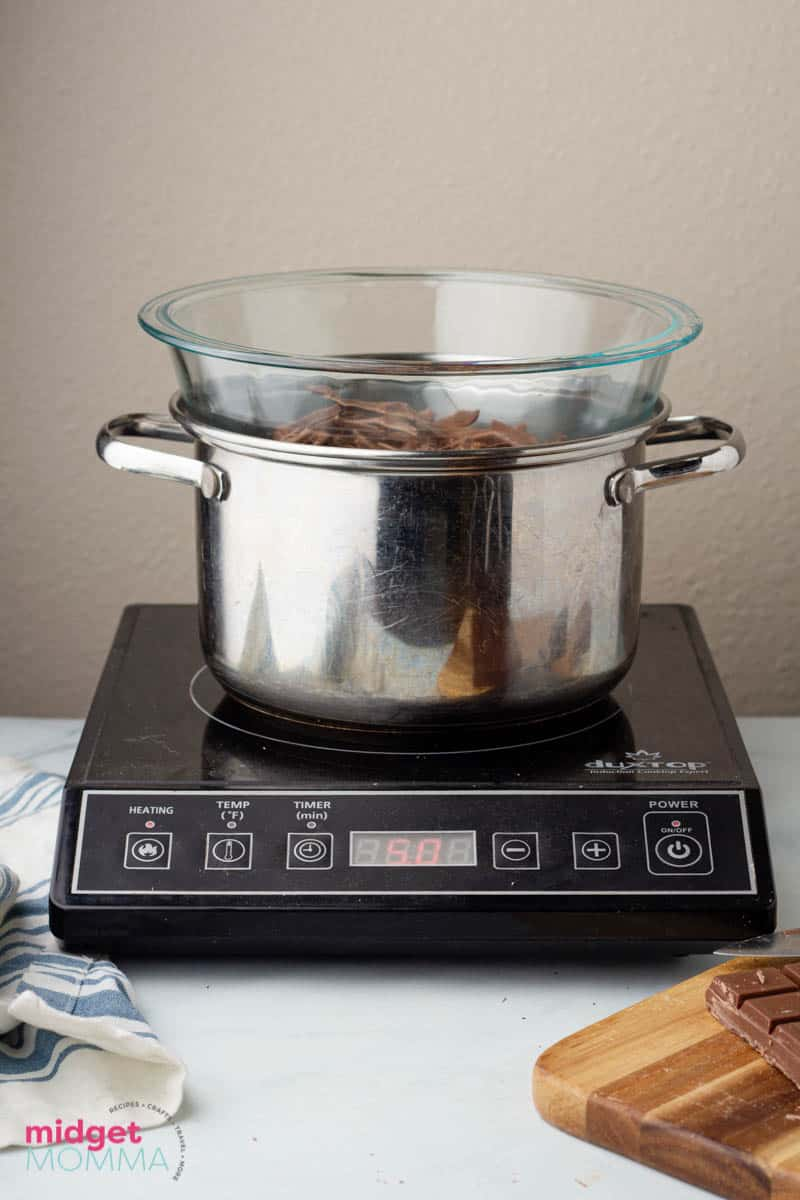 Chocoalate in a double boiler