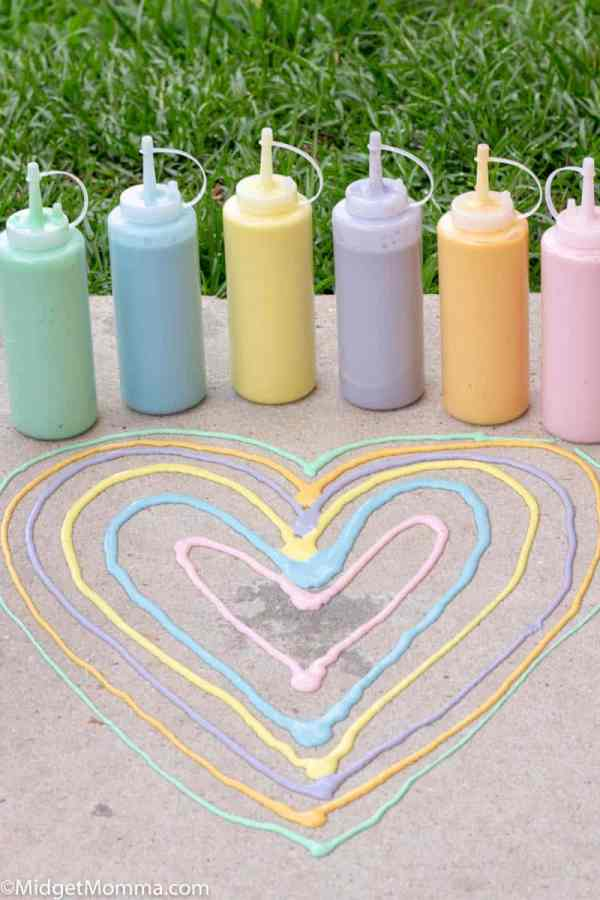 how to make sidewalk paint as an easy summer craft.