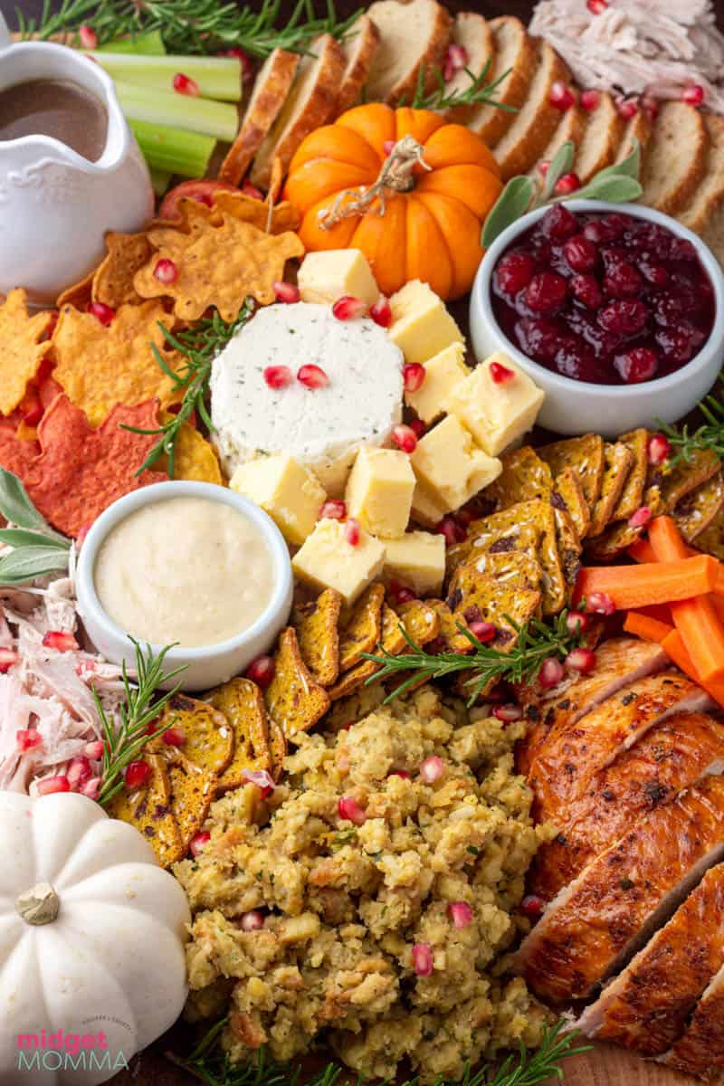 Thanksgiving Leftovers Charcuterie Board