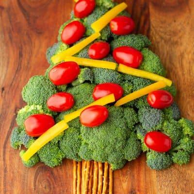 Christmas Tree veggie board