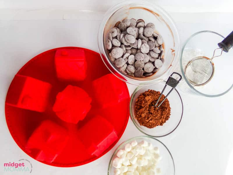 Gingerbread Hot Chocolate Bombs ingredients
