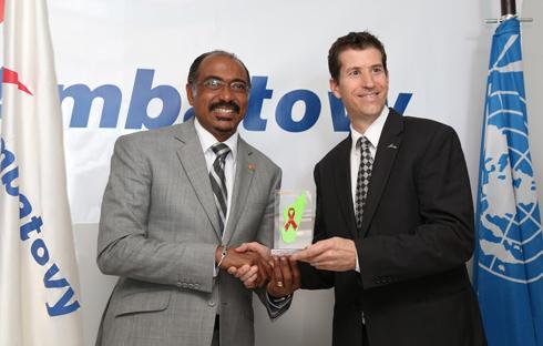 Ambatovy : Récompensée  par l'ONUSIDA