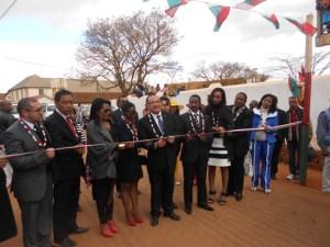 L'inauguration officielle de la JIJ en présence de toutes les autorités.