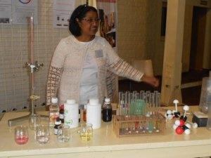 Le stand Chimie propose, entre autres, une expérience d'identification des solutions à partir de matériaux facilement accessibles.