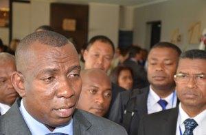 Le ministre de l'Intérieur et de la Décentralisation Mahafaly Solonandrasana Olivier