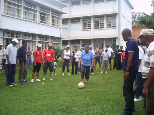 Omnisport : Journée sportive de la DGM, hier