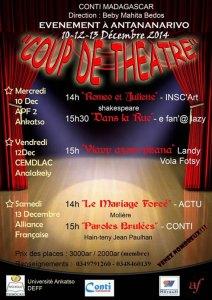 L'affiche du festival « Coup de théâtre » organisé par le groupe Conti.