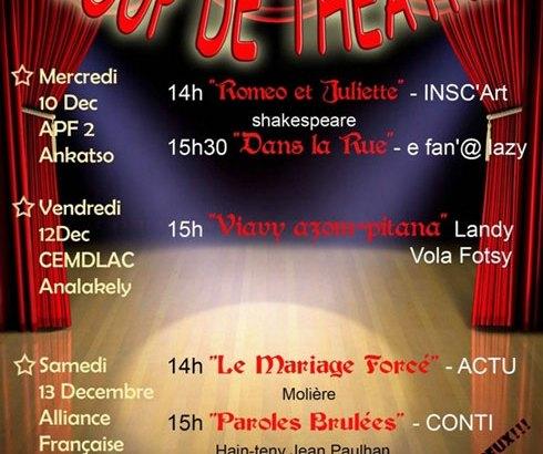 Conti Madagascar : Une année 2014 riche en représentations  théâtrales