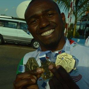 Damien Lorin, l'athlète aux triples médailles d'or. (Photo Kelly).
