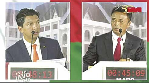 Second débat sur TVM : IEM de Rajoelina contre MAP 2 de Ravalomanana