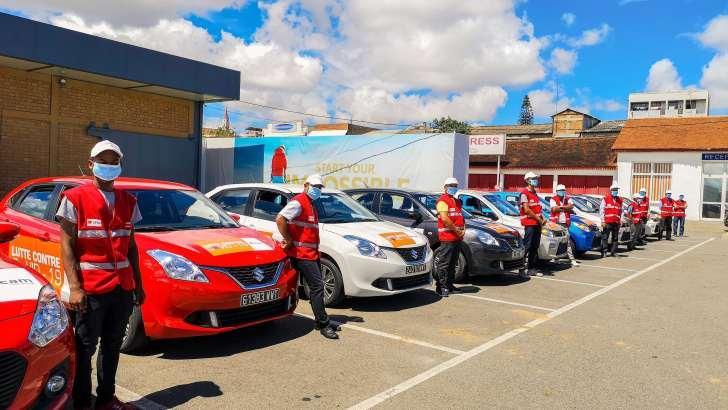 SICAM-CFAO Group: Vingt véhicules avec chauffeurs mis à disposition du Centre COVID-19