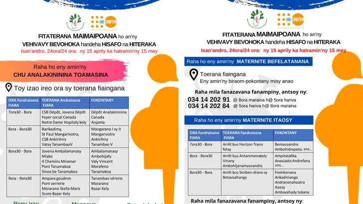 Maternité : Le service de transport des femmes enceintes se poursuit