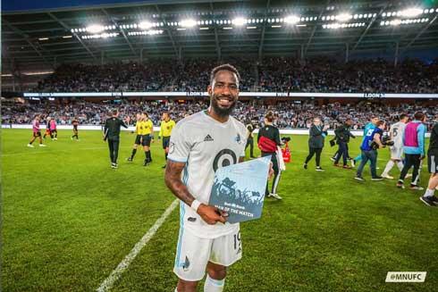 Football – MLS Etats-Unis Romain Métanire du MUFC, meilleur latéral droit