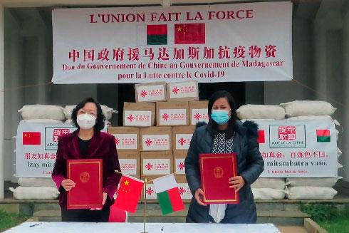 Ambassade de Chine : Matériels anti-épidémiques pour Madagascar